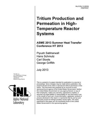 Primary view of object titled 'TRITIUM PRODUCTION AND PERMEATION IN HIGH-TEMPERAT'.