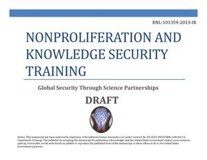 Primary view of object titled 'Nonproliferation and National Security Training Global Security Through Science Partnerships'.