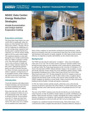 Primary view of object titled 'NSIDC Data Center: Energy Reduction Strategies (Brochure)'.