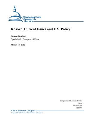 Kosovo: Current Issues and U.S. Policy