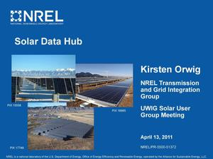 Primary view of object titled 'Solar Data Hub (Presentation)'.