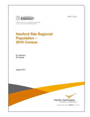 Primary view of object titled 'Hanford Site Regional Population - 2010 Census'.