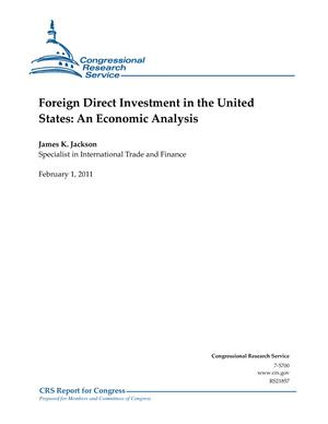 Foreign Direct Investment in the United States: An Economic Analysis