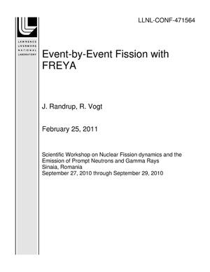 Primary view of object titled 'Event-by-Event Fission with FREYA'.