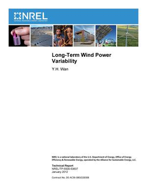 Primary view of object titled 'Long-Term Wind Power Variability'.