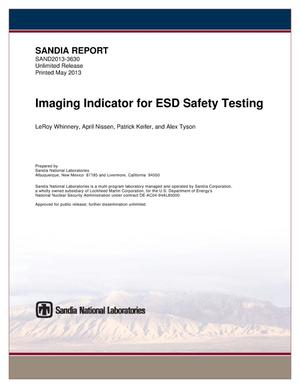 Primary view of object titled 'Imaging indicator for ESD safety testing.'.