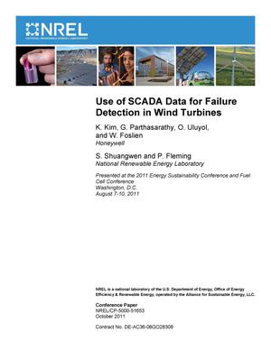 Primary view of object titled 'Use of SCADA Data for Failure Detection in Wind Turbines'.