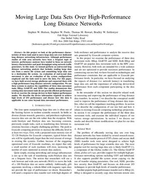 Primary view of object titled 'Moving Large Data Sets Over High-Performance Long Distance Networks'.