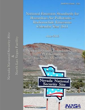 Primary view of object titled 'National Emission Standards for Hazardous Air Pollutants - Radionuclide Emissions, Calendar Year 2011'.