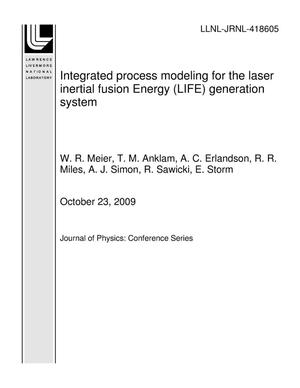 Primary view of object titled 'Integrated process modeling for the laser inertial fusion Energy (LIFE) generation system'.