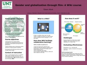 Primary view of object titled 'Gender and globalization through film: A Wiki course'.