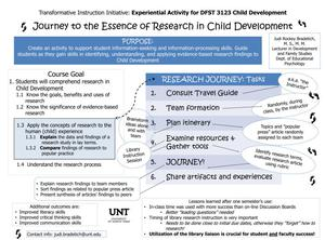 Primary view of object titled 'Journey to the Essence of Research in Child Development'.