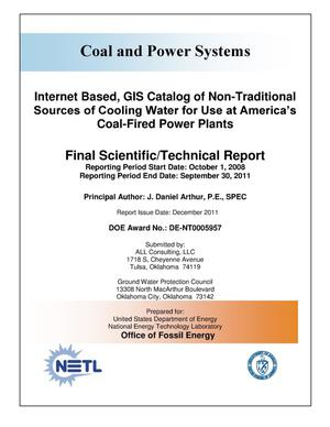 Primary view of object titled 'Internet Based, GIS Catalog of Non-Traditional Sources of Cooling Water for Use at America's Coal-Fired Power Plants'.
