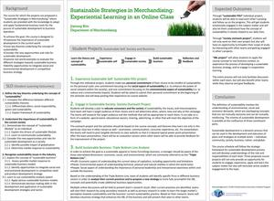 Sustainable Strategies in Merchandising: Experiential Learning in an Online Class