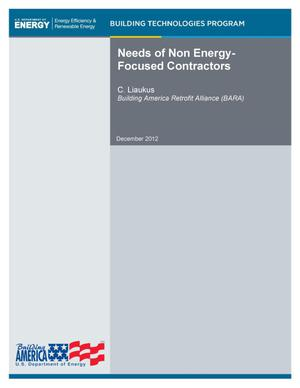 Primary view of object titled 'Needs of Non Energy-Focused Contractors'.