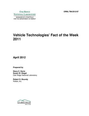 Primary view of object titled 'Vehicle Technologies' Fact of the Week 2011'.