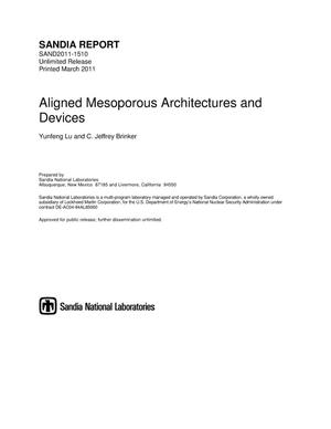 Primary view of object titled 'Aligned mesoporous architectures and devices.'.