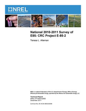 Primary view of object titled 'National 2010-2011 Survey of E85: CRC Project E-85-2'.