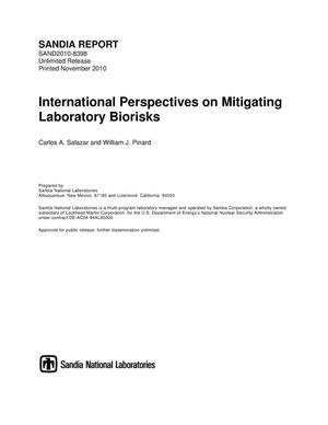 Primary view of object titled 'International perspectives on mitigating laboratory biorisks.'.