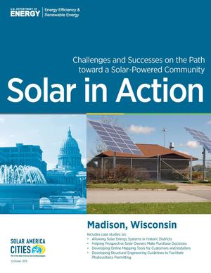 Primary view of object titled 'Madison, Wisconsin: Solar in Action (Brochure)'.