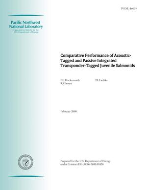 Primary view of object titled 'Comparative Performance of Acoustic-tagged and PIT-tagged Juvenile Salmonids'.