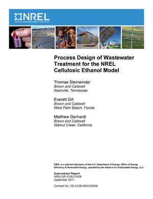 Primary view of object titled 'Process Design of Wastewater Treatment for the NREL Cellulosic Ethanol Model'.