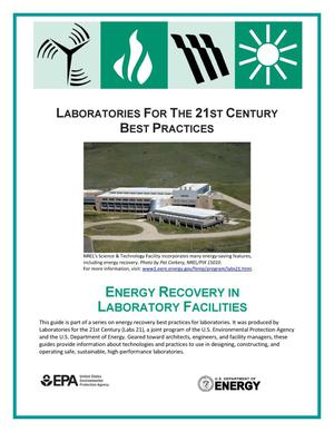 Primary view of object titled 'Laboratories for the 21st Century: Best Practices; Energy Recovery in Laboratory Facilities (Brochure)'.