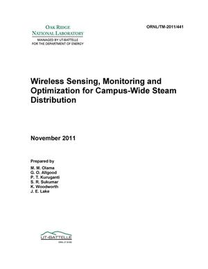 Primary view of object titled 'Wireless Sensing, Monitoring and Optimization for Campus-Wide Steam Distribution'.