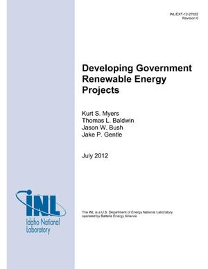 Primary view of object titled 'Developing Government Renewable Energy Projects'.