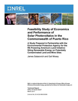 Primary view of object titled 'Feasibility Study of Economics and Performance of Solar Photovoltaics in the Commonwealth of Puerto Rico'.