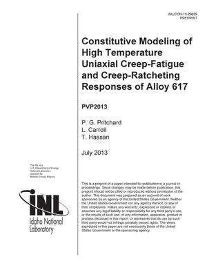 Primary view of object titled 'Constitutive Modeling of High Temperature Uniaxial'.