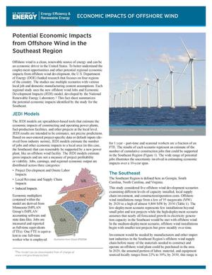 Primary view of object titled 'Potential Economic Impacts from Offshore Wind in the Southeast Region (Fact Sheet)'.