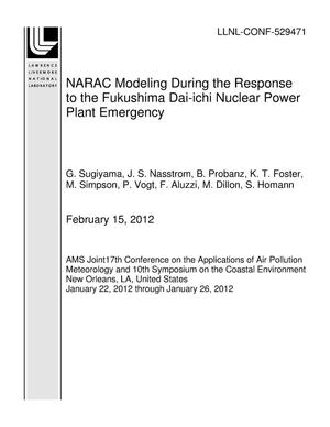 Primary view of object titled 'NARAC Modeling During the Response to the Fukushima Dai-ichi Nuclear Power Plant Emergency'.