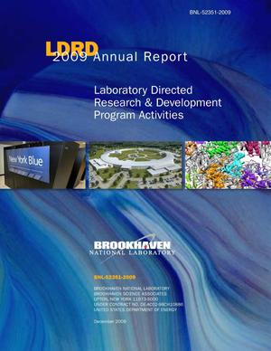 Primary view of object titled 'LDRD 2009 Annual Report: Laboratory Directed Research and Development Program Activities'.