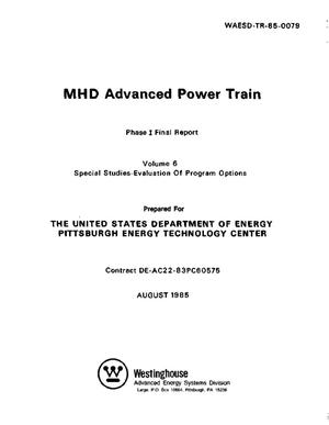 Primary view of object titled 'MHD Advanced Power Train Phase I, Final Report, Volume 6'.