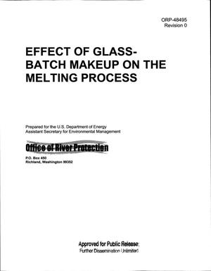 Primary view of object titled 'EFFECT OF GLASS-BATCH MAKEUP ON THE MELTING PROCESS'.