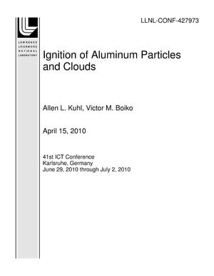 Primary view of object titled 'Ignition of Aluminum Particles and Clouds'.