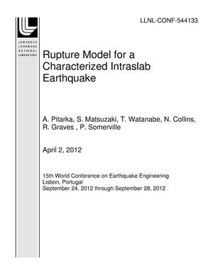 Primary view of object titled 'Rupture Model for a Characterized Intraslab Earthquake'.