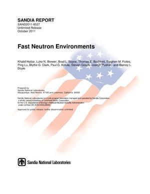 Primary view of object titled 'Fast neutron environments.'.
