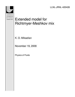 Primary view of object titled 'Extended model for Richtmyer-Meshkov mix'.