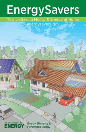 Primary view of object titled 'EnergySavers: Tips on Saving Money & Energy at Home (Brochure)'.