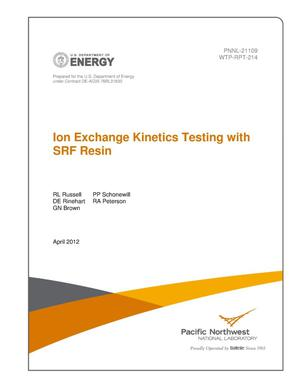 Primary view of object titled 'Ion Exchange Kinetics Testing with SRF Resin'.