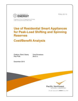 Primary view of object titled 'Use of Residential Smart Appliances for Peak-Load Shifting and Spinning Reserves Cost/Benefit Analysis'.