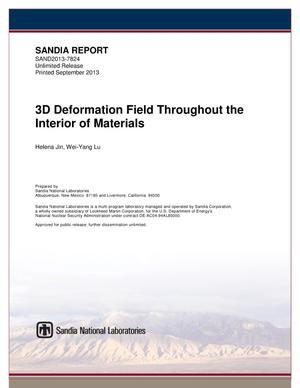 Primary view of object titled '3D deformation field throughout the interior of materials.'.