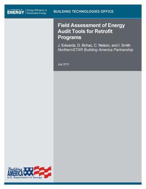 Field Assessment Of Energy Audit Tools For Retrofit Programs Unt Digital Library