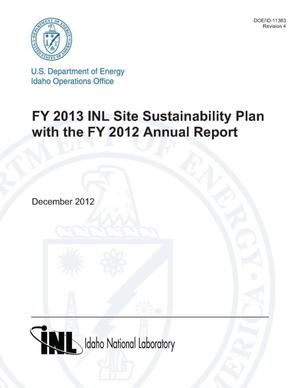 Primary view of object titled 'FY 2013 INL SITE SUSTAINABILITY PLAN WITH THE FY 2012 ANNUAL REPORT'.