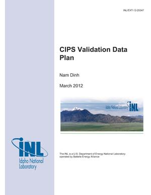 Primary view of object titled 'CIPS Validation Data Plan'.