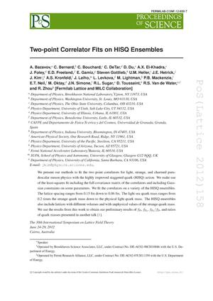 Primary view of object titled 'Two-Point Correlator Fits on HISQ Ensembles'.