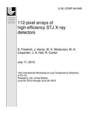 Primary view of object titled '112-pixel arrays of high-efficiency STJ X-ray detectors'.