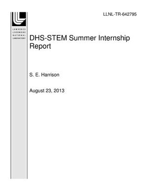 Primary view of object titled 'DHS-STEM Summer Internship Report'.